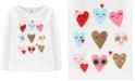 Carter's Toddler Girls Cotton Glitter Hearts T-Shirt