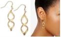Charter Club Rose Gold-Tone Twist Drop Earrings, Created for Macy's