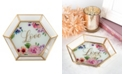 Lillian Rose Geometric Glass Tray Wedding Guestbook Alternative in a Watercolor Floral Love Design