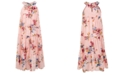 Pink & Violet Big Girls Burnout Chiffon Maxi Dress