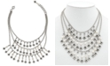 """Patricia Nash Floret & Freshwater Pearl (5mm) Multi-Row Statement Necklace, 18"""" + 2"""" extender"""