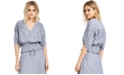 INC International Concepts INC Striped Smocked Top, Created For Macy's