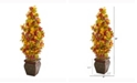Nearly Natural 40in. Autumn Maple Artificial Tree in Decorative Planter