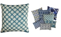 "Mod Lifestyles Blue Collection Geometric Beaded Pillow, 14"" x 14"""