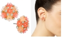 INC International Concepts INC Gold-Tone Pavé Flower Button Earrings, Created For Macy's