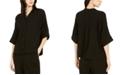 Eileen Fisher Mandarin-Collar Crinkle Top