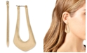 "Robert Lee Morris Soho Gold-Tone Medium Sculptural Open Hoop Earrings, 1.2"""