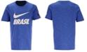 Nike Big Boys Brazil National Team Slub Preseason T-Shirt