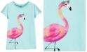 Carter's Little & Big Girls Cotton Flamingo Split Shoulder T-Shirt