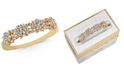 Charter Club Gold-Tone Crystal Burst Bangle Bracelet, Created for Macy's
