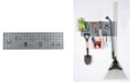 Triton Products Locboard Garden Storage Kit with 1 18 Gauge Steel Square Hole Pegboard and 8 Piece Lochook Assortment