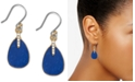 Lucky Brand Two-Tone Pavé & Stone Drop Earrings