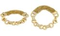 Macy's Diamond Multi-Chain Link Bracelet (1/2 ct. t.w.) in Gold-Tone Sterling Silver Vermeil