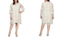 Alex Evenings Plus Size Layered-Look Embroidered Jacket Dress
