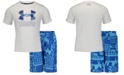 Under Armour Toddler & Little Boys 2-Pc. Rash Guard & Swim Trunks Set