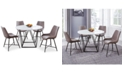 Steve Silver Ramona 5-Pc. Dining Set, (Round Table & 4 Side Chairs)