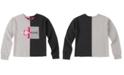 Calvin Klein Big Girls Split Colorblocked Sweatshirt