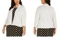 Kasper Plus Size Open-Front Ruffled Cardigan