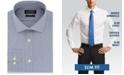 Lauren Ralph Lauren Men's Slim-Fit Wrinkle Resistant UltraFlex Performance Stretch Navy Blue Stripe Dress Shirt