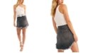 Free People Bailey Solid Denim Mini Skirt