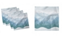 "Ambesonne Mountains Winter Set of 4 Napkins, 12"" x 12"""