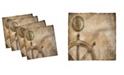 "Ambesonne Nautical Set of 4 Napkins, 12"" x 12"""