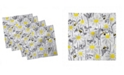 """Ambesonne Spring Flowers Set of 4 Napkins, 12"""" x 12"""""""