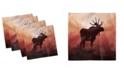 "Ambesonne Moose Set of 4 Napkins, 12"" x 12"""