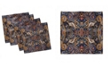 "Ambesonne Paisley Set of 4 Napkins, 12"" x 12"""