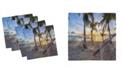 "Ambesonne Tropical Set of 4 Napkins, 12"" x 12"""