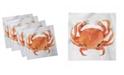 "Ambesonne Crabs Set of 4 Napkins, 12"" x 12"""