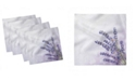 "Ambesonne Lavender Flower Set of 4 Napkins, 12"" x 12"""
