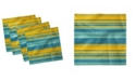 """Ambesonne Contrast Lines Set of 4 Napkins, 12"""" x 12"""""""