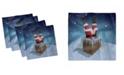 "Ambesonne Santa Set of 4 Napkins, 12"" x 12"""