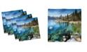 "Ambesonne Lake Tahoe Set of 4 Napkins, 12"" x 12"""