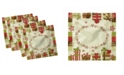 """Ambesonne New Year Set of 4 Napkins, 12"""" x 12"""""""
