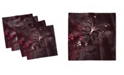 "Ambesonne Romantic Set of 4 Napkins, 12"" x 12"""