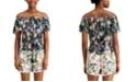 FISHBOWL Juniors' Floral-Print Off-The-Shoulder Romper