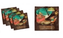 """Ambesonne Forest Friends Set of 4 Napkins, 12"""" x 12"""""""