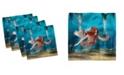 """Ambesonne Mermaid Set of 4 Napkins, 18"""" x 18"""""""