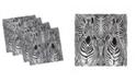 "Ambesonne Zebra Print Set of 4 Napkins, 18"" x 18"""
