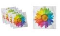 "Ambesonne Flower Set of 4 Napkins, 18"" x 18"""