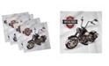 "Ambesonne Motorcycle Set of 4 Napkins, 18"" x 18"""