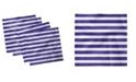 "Ambesonne Striped Set of 4 Napkins, 18"" x 18"""