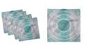 "Ambesonne Geometric Mandala Set of 4 Napkins, 18"" x 18"""