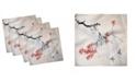 """Ambesonne Japanese Set of 4 Napkins, 18"""" x 18"""""""