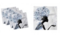 "Ambesonne Retro Set of 4 Napkins, 18"" x 18"""