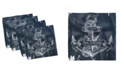 "Ambesonne Marine Set of 4 Napkins, 18"" x 18"""