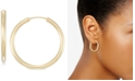 Italian Gold Small Highly Polished Flex Hoop Earrings in 14k Gold