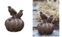 Campania International Birds on Pumpkin Garden Statue